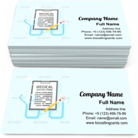Medical history form Business Card Template