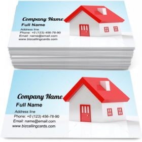Miniature home model Business Card Template