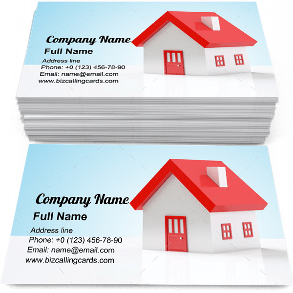 Sample of Miniature home model business card design for advertisements marketing ideas and promote realtor branding identity