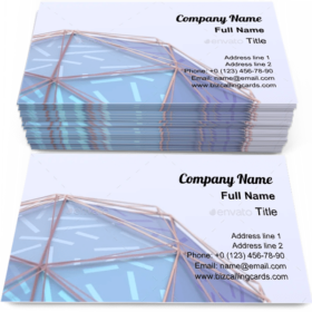 Modern geometric polygonal Business Card Template
