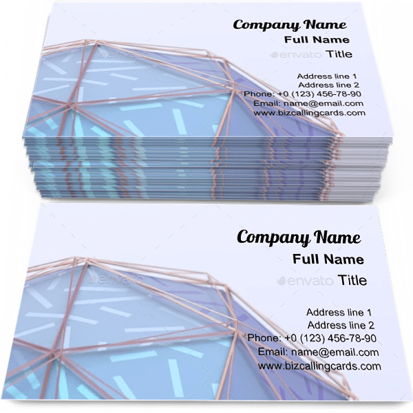 Sample of Modern geometric polygonal business card design for advertisements marketing ideas and promote cover branding identity