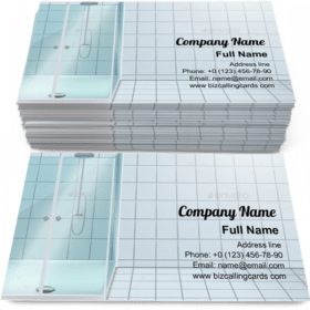Modern Shower Stall Business Card Template