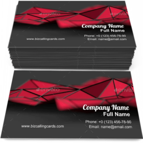 Modern triangulated surface Business Card Template