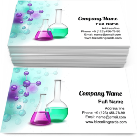 Molecule and Vessels Business Card Template