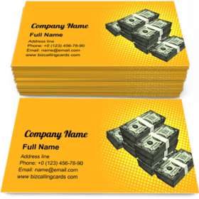 Money Bundle of Dollars Business Card Template