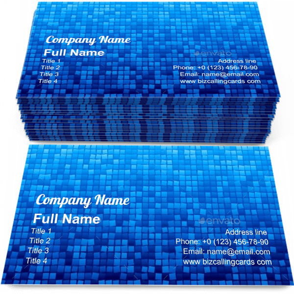 Sample of Mosaic square Gradients calling card design for advertisements marketing ideas and promote tiled floor branding identity