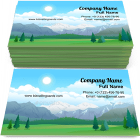 Mountains and Forest Business Card Template