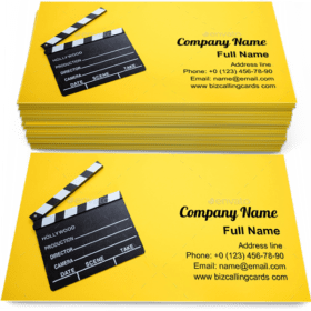 Movie clapperboard Business Card Template