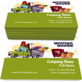 Moving House on Car Business Card Template