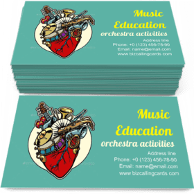 Music Education Heart Business Card Template