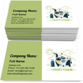 Natural Milk Eco Farm Business Card Template