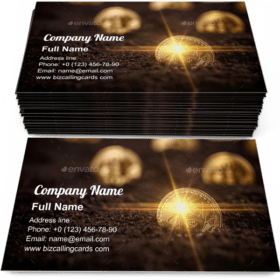 New virtual money Business Card Template