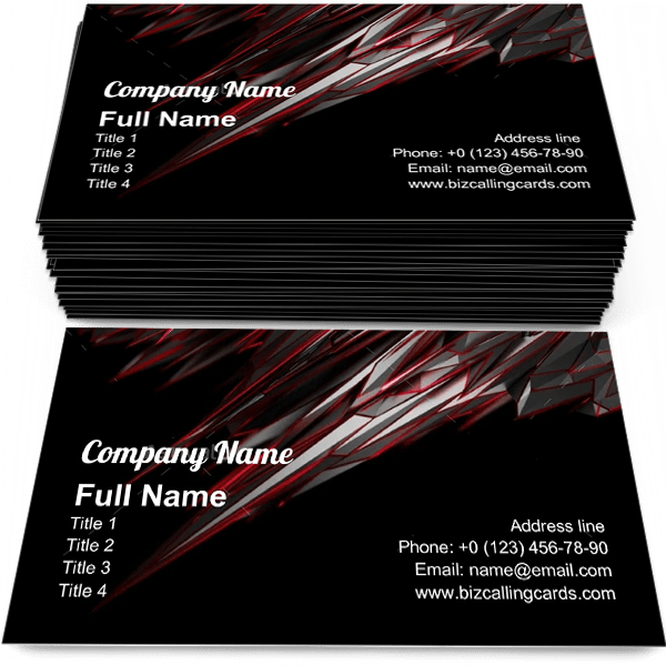 Sample of Noisy low poly object business card design for advertisements marketing ideas and promote fiction matrix branding identity