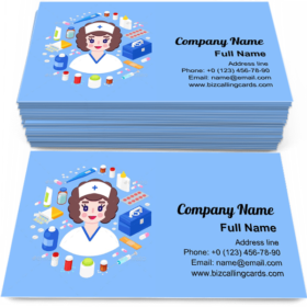 Nurse equipment Business Card Template