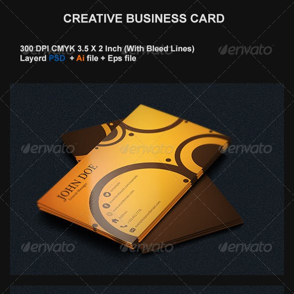 Orange Color of Business Cards