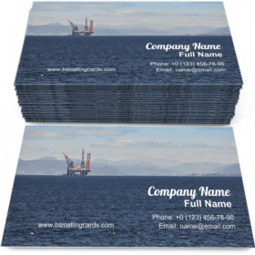 Oil and gas sea platform Business Card Template