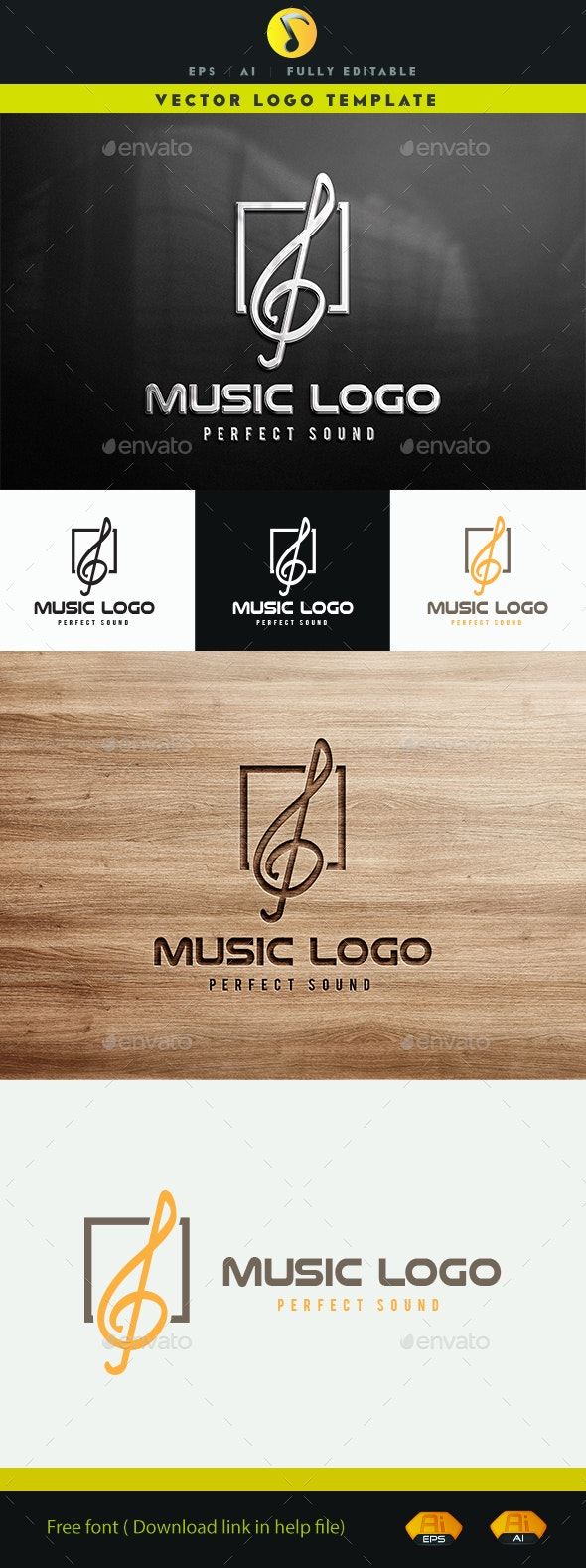 Old music book Logo Template for Your melody teaching Business Card