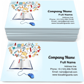 Online Education Concept Business Card Template