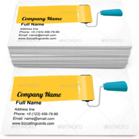 Paint Roll Business Card Template