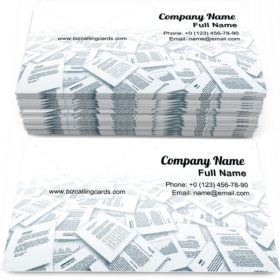 Paper Documents Business Card Template