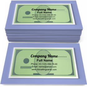 Papercraft money Business Card Template