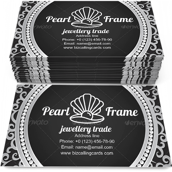 Pearl Frame Business Card Template