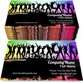 People grunge dancing Business Card Template