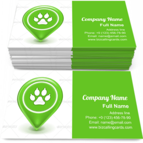 Pet Location Icon Business Card Template
