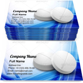 Pharmaceutical pills Business Card Template