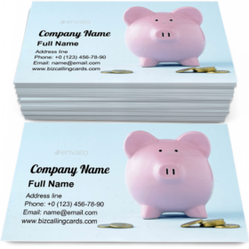 Pink piggy face Business Card Template