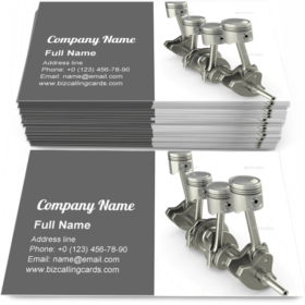 Pistons and crankshaft Business Card Template