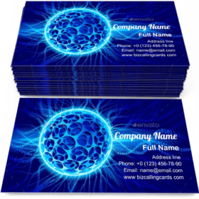 Plasma ball with binaries Business Card Template