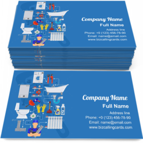 Plumber Tools and Device Business Card Template