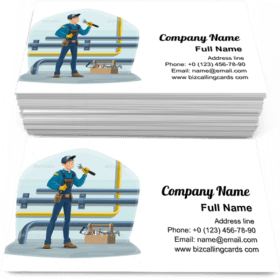 Plumber and water pipes Business Card Template
