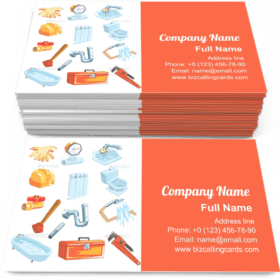 Plumbing Related Instruments Business Card Template