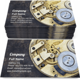 Pocket watch mechanism Business Card Template