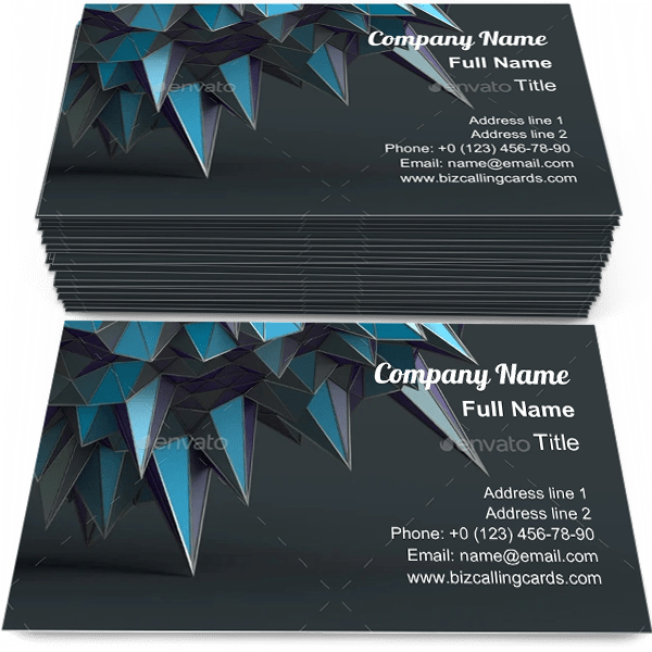 Sample of Polygonal geometric Surface business card design for advertisements marketing ideas and promote cover branding identity
