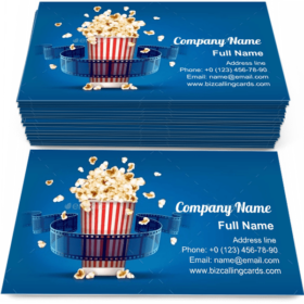Popcorn For Cinema Business Card Template