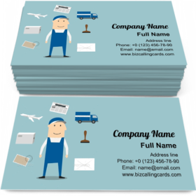 Postman Profession Business Card Template