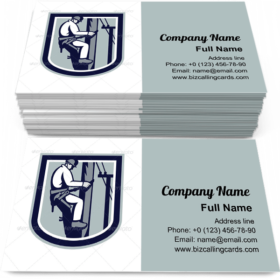Power Lineman Business Card Template
