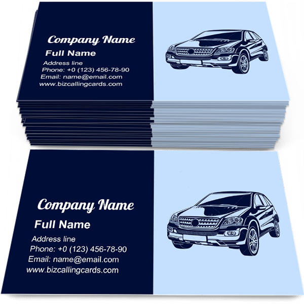 Sample of Powerful Automobile calling card design for advertisements marketing ideas and promote drive racing branding identity