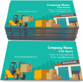 Process in Warehouse Business Card Template