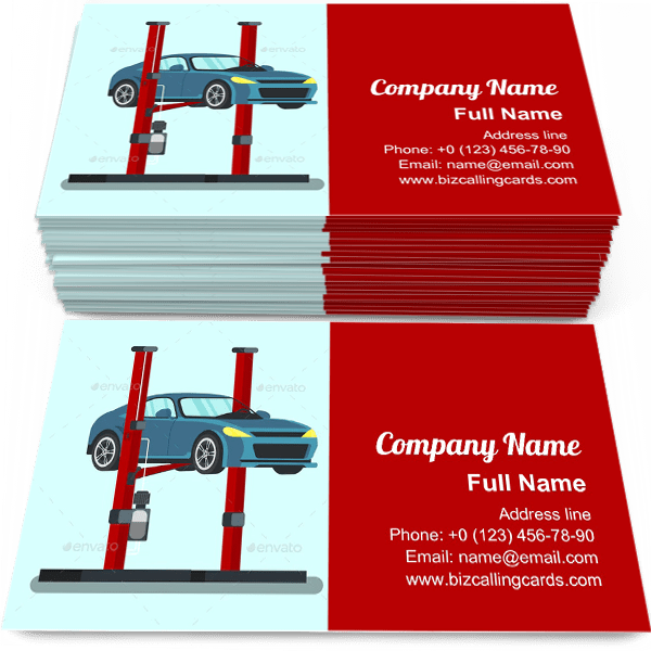 Sample of Professional Service Station calling card design for advertisements marketing ideas and promote Planned Diagnostics branding identity