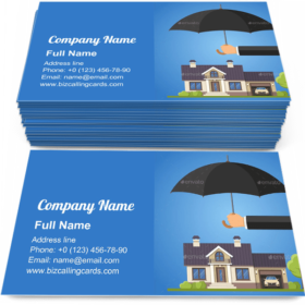 Property Protection Business Card Template
