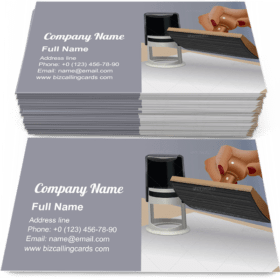 Put The Notary Stamp Business Card Template