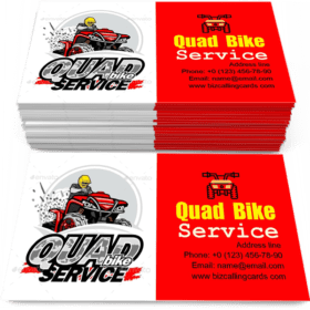 Quad Bike Service Business Card Template