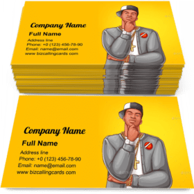 Rap Hip-hop Male Business Card Template
