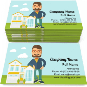 Real estate agent Poses Business Card Template