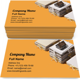 Real estate and paperwork Business Card Template