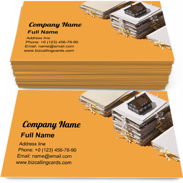 Sample of Real estate and paperwork calling card design for advertisements marketing ideas and promote real estate branding identity